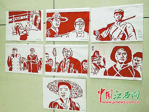 南昌一市民用剪纸 讲述 抗战故事 英雄人物跃然纸上
