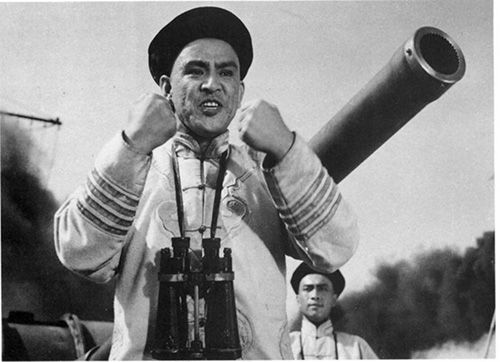 李默然曾在电影《甲午风云》中出演邓世昌(资料图)