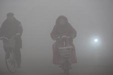 河南内黄县大雾弥漫