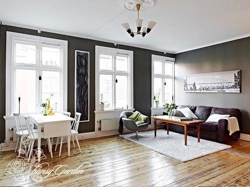 78平2室1厅装修案例 30图晒白领小户型设计小清新