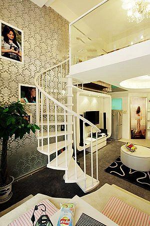 拜金小资女晒30平复式公寓 小户型大空间超奢华(图)