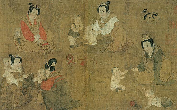 的中国古代仕女图