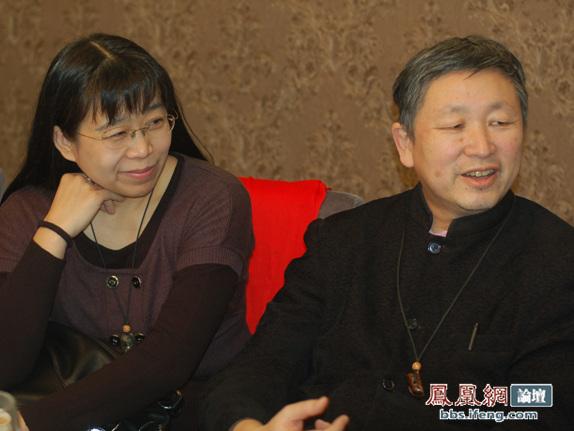 近代史学者,章立凡与夫人-鸿儒显赫云集 雪夜漫谈 一周年嘉宾答谢宴图片