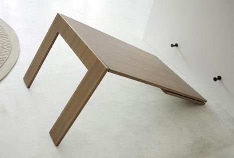 镜子桌子合二为一 神奇的折叠家具图片