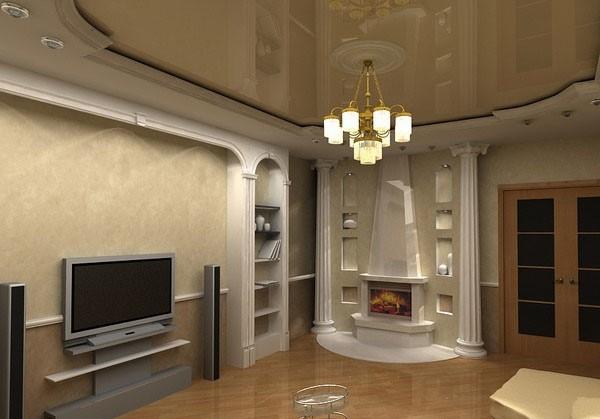 欧式拱形卧室背景墙
