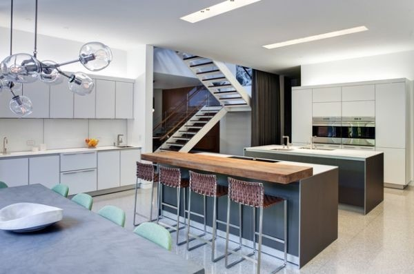 开放式的温馨烹饪空间 将餐桌与厨房相连_家居频道