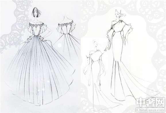 请问画婚纱设计图用什么纸什么笔 详情 谢谢