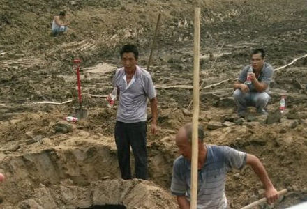发现部分珍贵文物,经初步判断为隋唐时期墓葬.