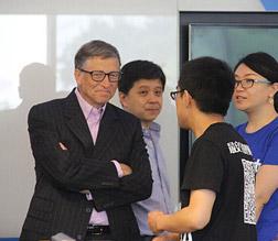 比尔·盖茨与许泽玮交流