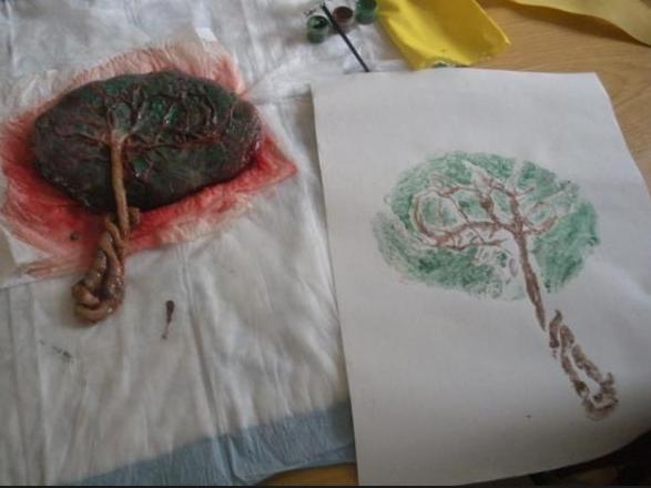 树叶作画简单步骤图解
