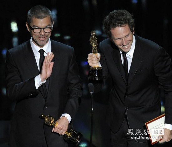 《龙纹身的女孩》获得奥斯卡最佳电影剪辑奖