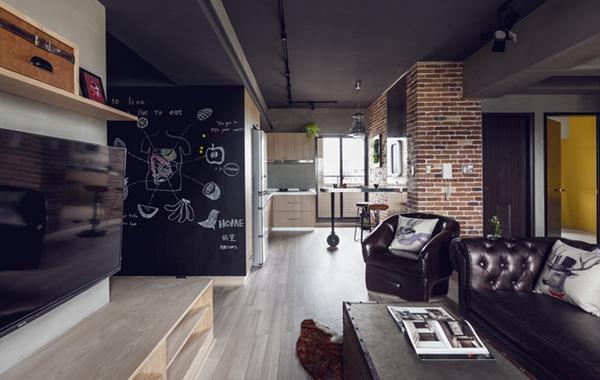 台湾高雄92平米美式公寓 硬朗工业风呈现粗犷美感图片