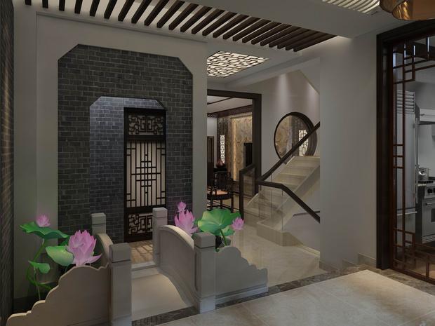 中式风别墅设计 感受古墨书香的韵味