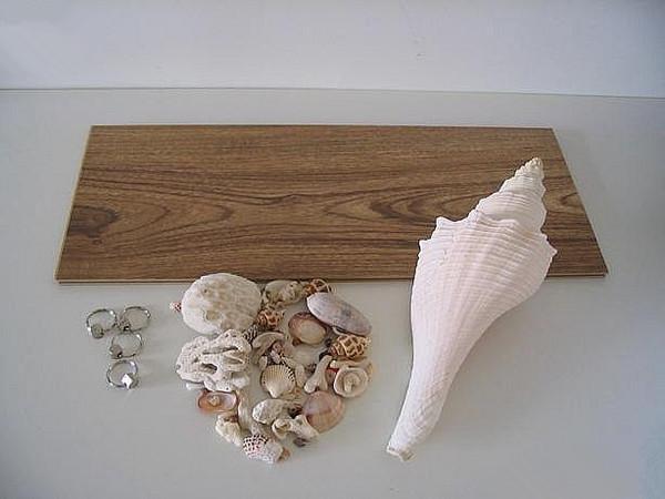 废物利用DIY 利用木地板边角料和贝壳制作艺术夜灯