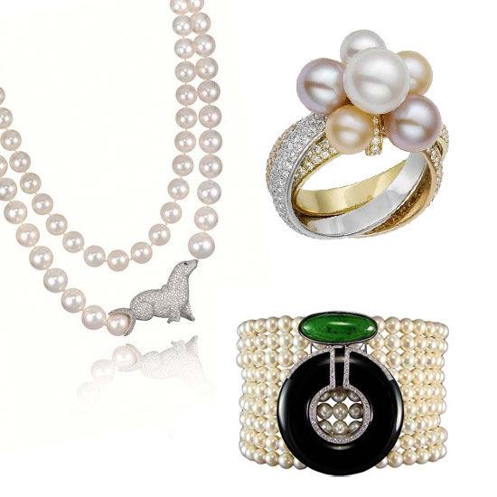 珍珠是是赫本最爱的珠宝首饰,也是香奈儿小黑裙优雅的情人,更是凯特