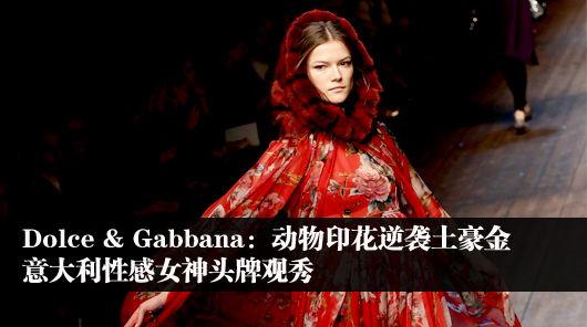 Dolce & Gabbana:动物印花逆袭土豪金