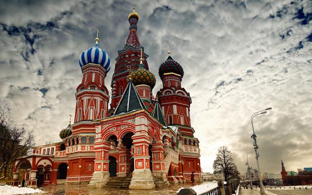莫斯科红场雪景