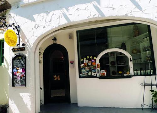 欧式奶茶店吧台