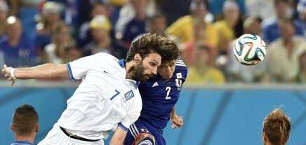 世界杯日本VS希腊全场战报 大和武士错失良机