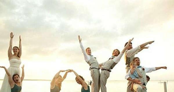 创意婚礼跟拍另类pose造型