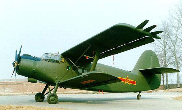 陕西一架运-5型飞机坠毁