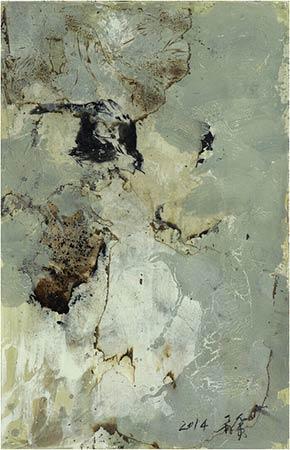 管策 《花鸟系列7》 纸面综合材料 106cm*66cm 2014图片