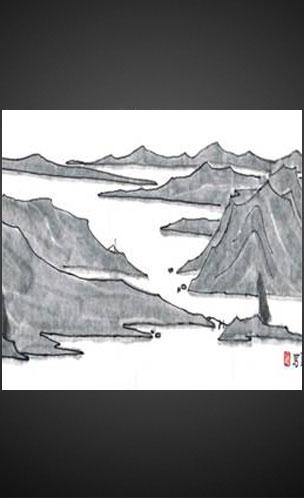 美丽童行拍品: 江村行渔图卷