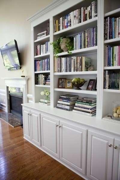 美观实用 多款欧式嵌入式书柜设计供您参考