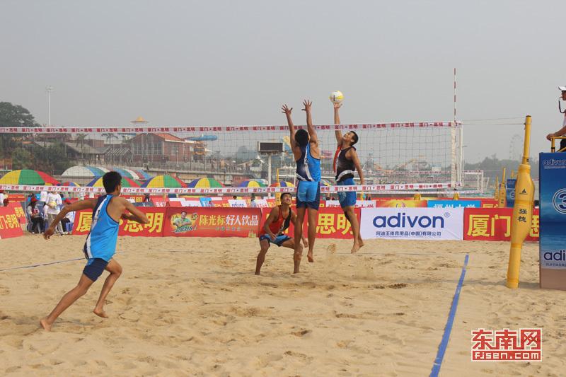 全国沙滩排球锦标赛在厦门开赛