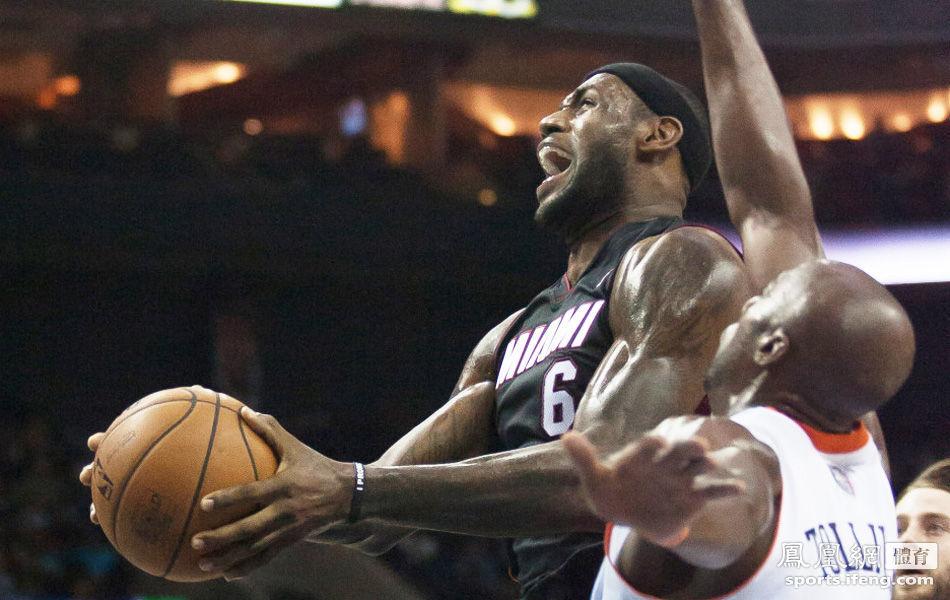 NBA常规赛继续进行,热火客场挑战山猫,虽然韦德和波什低迷,但图片