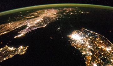 中朝韩夜景