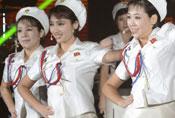 朝鲜海军文工团美貌女兵照曝光