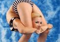 美女极限柔术
