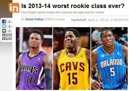 ESPN:2013届新秀史上第二烂 本内特成最差状元|届新秀|本内