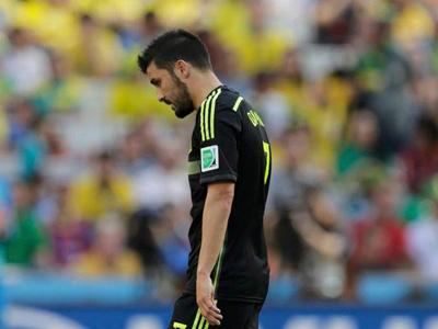 比利亚进球 西班牙1-0澳大利亚