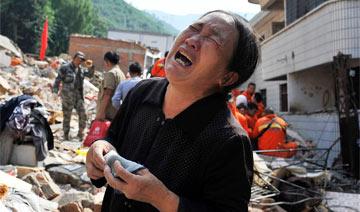 她上大学的儿女和一个儿媳在地震中遇难