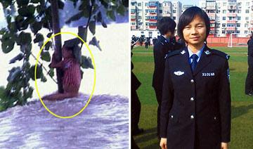 98年洪灾中抱树获救7岁女孩成为铁警