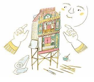 房子」其实是灵厝,就和这篇〈成家〉的主场景一样,来自糊纸这项传统