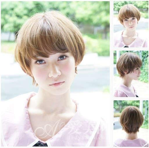 清凉短发造型秀 时尚染色酷爽整个夏天