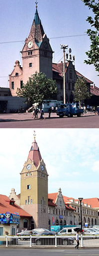 新旧照片对比:看青岛65年巨变
