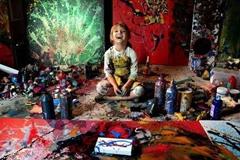 世界最小的画家7岁作品已上万美元
