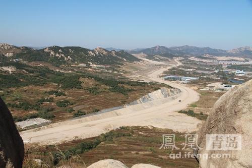 青岛灵山湾南北高速公路连接线开工