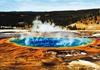 美国黄石公园的温泉