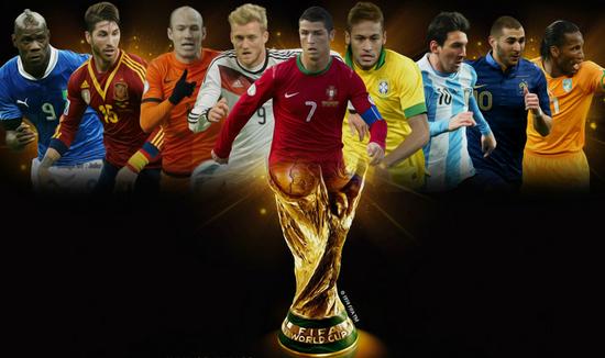 卫报发布世界杯百大球星排行榜 两位球王占据