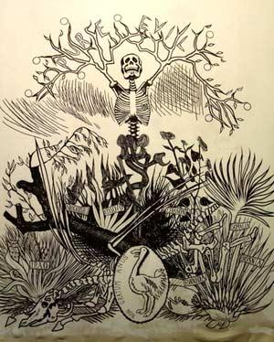 费利/《残骸》扉页[费利西安·罗普斯,蚀刻版画,1866年]