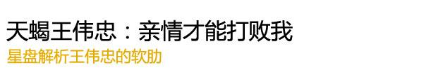"""""""天蝎王伟忠:亲情才能打败我"""""""