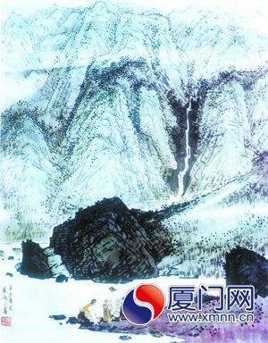 山水粉笔板报图