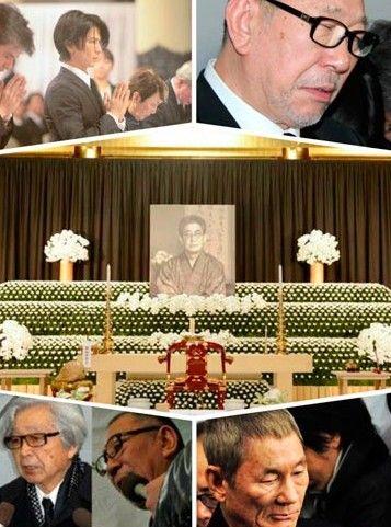 大岛渚葬礼现场800人吊唁。