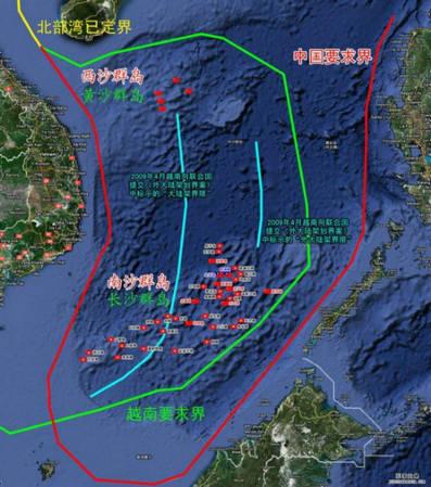 南海岛礁实际控制图