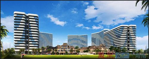 精装酒店式公寓,亲海别墅,公寓整体外立面采用精致海洋元素外立面设计